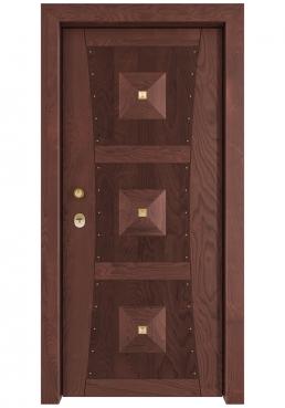 Εικόνα Θωρακισμένη Πόρτα Χειροποίητη ημιμασίφ