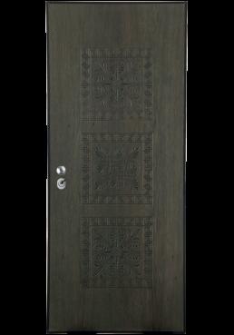 Εικόνα Θωρακισμένη Πόρτα Δρυς φυσικό με σχέδιο τρισδιάστατο