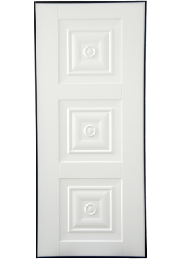 Εικόνα Θωρακισμένη Πόρτα Λάκα λευκή