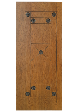 Εικόνα Θωρακισμένη Πόρτα Δρυς φυσικό