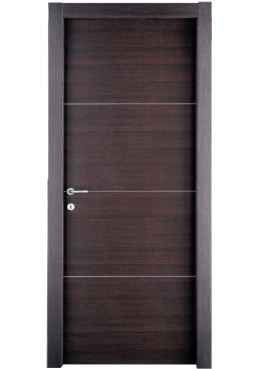 Εικόνα Θωρακισμένη Πόρτα Wenge με inox