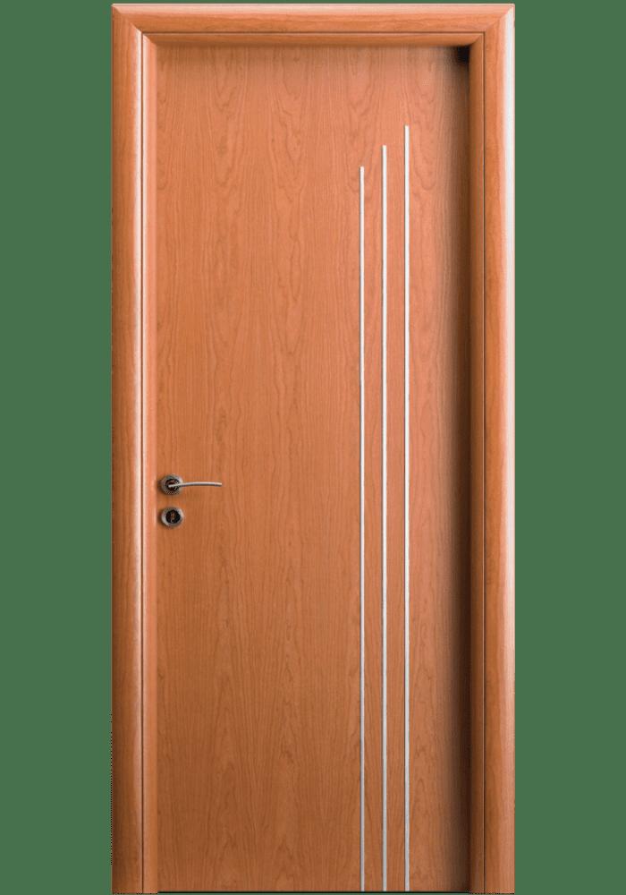 Εικόνα Θωρακισμένη Πόρτα Κερασιά με inox
