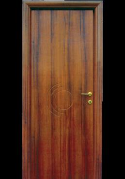 Εικόνα Θωρακισμένη Πόρτα Καρυδιά με inox