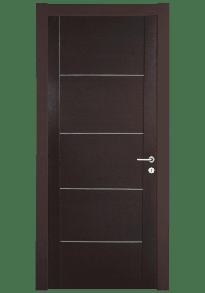 Εικόνα Θωρακισμένη Πόρτα Wenge χειροποίητο με inox