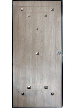 Εικόνα Θωρακισμένη Πόρτα Ντεκαπέ γκρι χειροποίητο