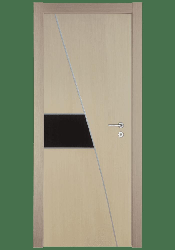 Εικόνα Θωρακισμένη Πόρτα Δρυς διχρωμία με inox