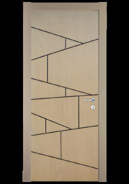 Εικόνα Θωρακισμένη Πόρτα Δρυς με πατίνα μαύρη