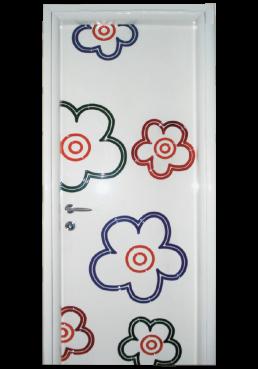 Εικόνα Θωρακισμένη Πόρτα Λάκα γυαλιστερή με πατίνα