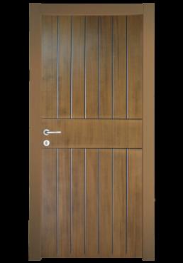 Εικόνα Θωρακισμένη Πόρτα Ανιγκρέ φυσικό με πατίνα μαύρη