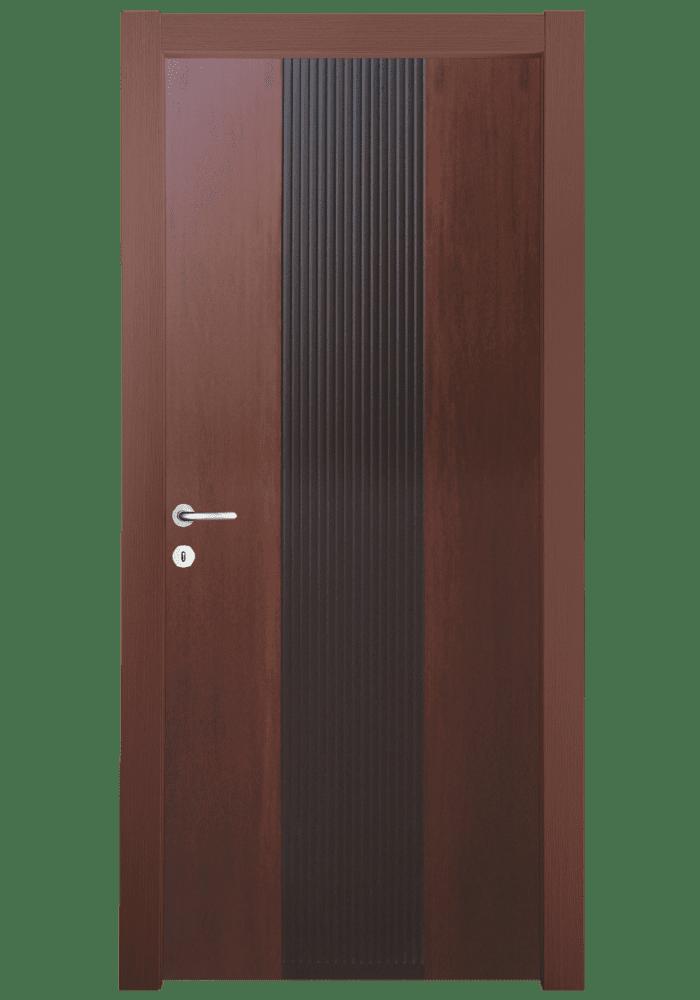 Εικόνα Θωρακισμένη Πόρτα Ανιγκρέ φυσικό με διχρωμία