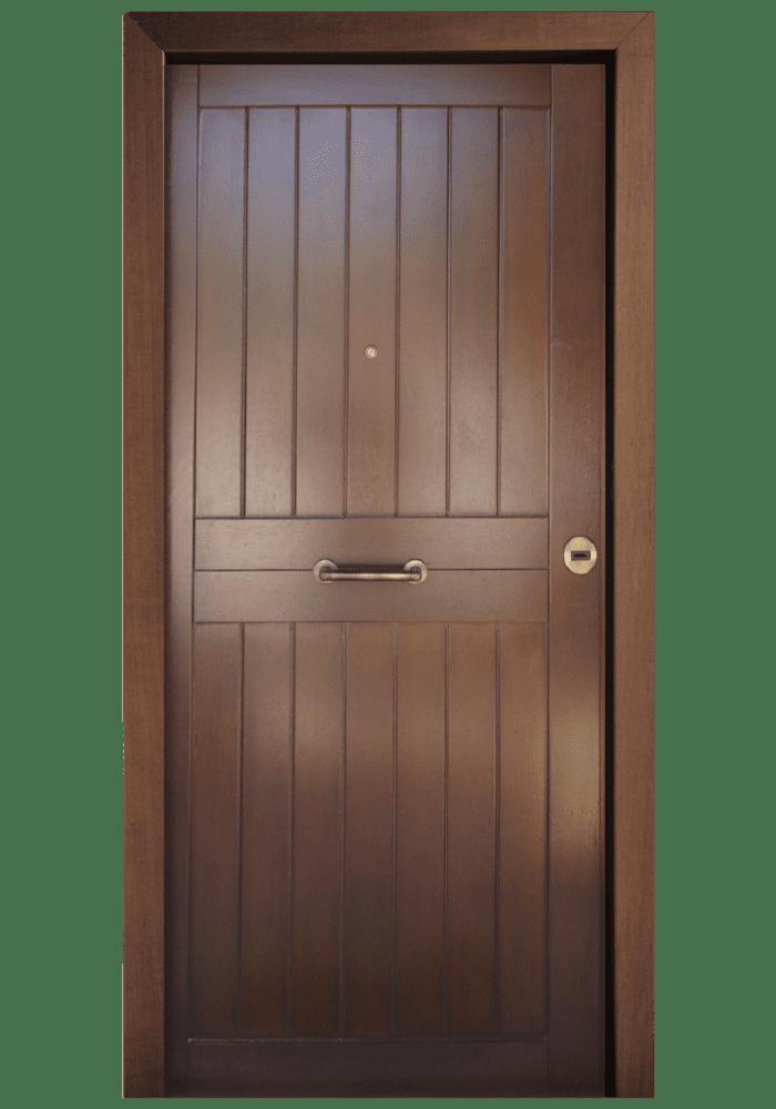 Εικόνα Θωρακισμένη Πόρτα Πλακάζ θαλάσσης με οικολογικό βερνίκι