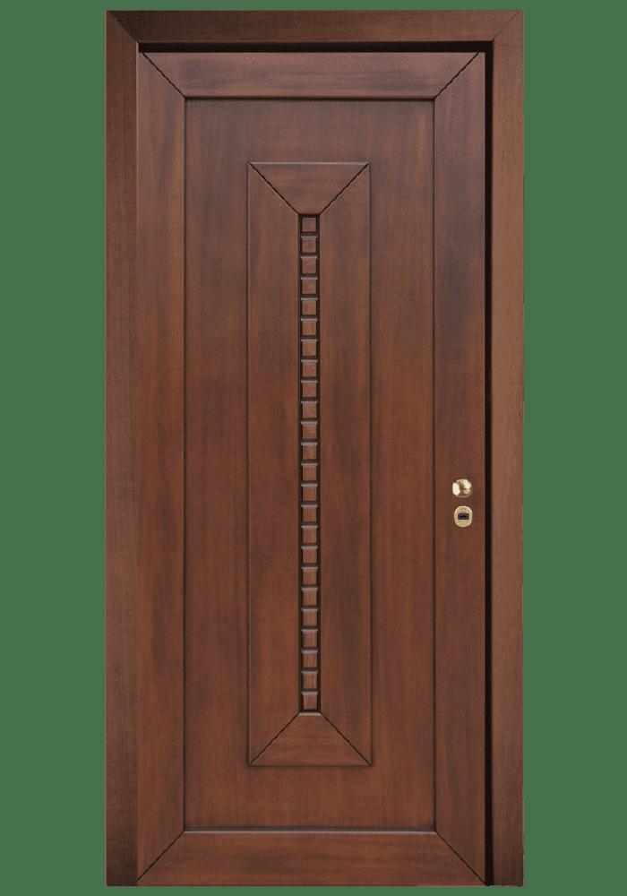 Εικόνα Θωρακισμένη Πόρτα Ανιγκρέ φυσικό με πατίνα