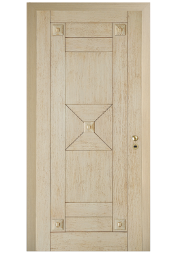 Εικόνα Θωρακισμένη Πόρτα Δρυς φυσικό με πατίνα