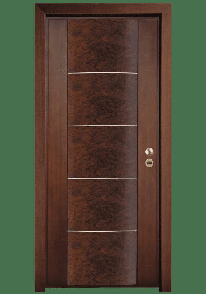 Εικόνα Θωρακισμένη Πόρτα Χειροποίητη με ρίζα ελιάς και οβάλ επιφάνεια