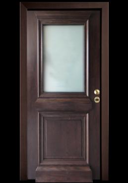 Εικόνα Εσωτερική Πόρτα ημιμασίφ τζαμωτή δρυς φυσικό